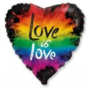 Красочная любовь Сердце 45 см.