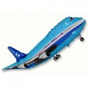 Самолет синий 95 см.