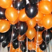 Металлик - черный, оранжевый