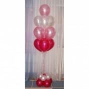 """Фонтан из 10 шаров """"Розовая нежность"""""""