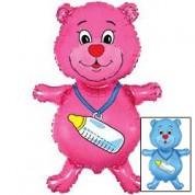 Медвежонок с бутылочкой 89 см