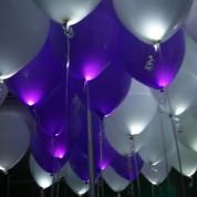 Белые + Сиреневые светящиеся шары