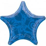 Звезда Шары и Подарки Синяя 40 см