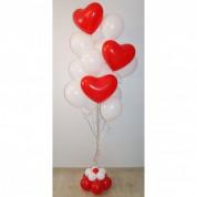 Фонтан Воздушный поцелуй - 15 шаров