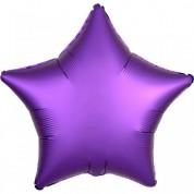 Звезда Фиолетовый Сатин Люкс 40 см