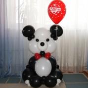 Панда с шариком - 100 см