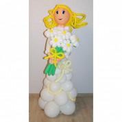 Невеста с букетом ромашек 170 см
