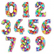 Цифры 1-9 шары 100 см. (гелий)