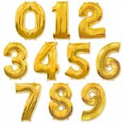 Цифра Золото 86 см. (гелий)