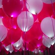 Белые + Розовые светящиеся шары