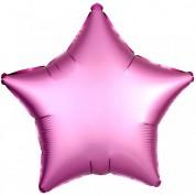 Звезда Розовый Сатин Люкс 40 см