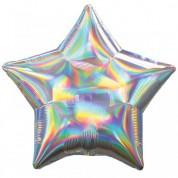 Звезда Серебро Перламутр 40 см