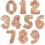 Цифра Розовое Золото 86 см. (гелий)