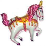 Нарядная лошадь (фуксия) 90 см