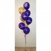 Фонтан из 9 шаров с поздравлениями