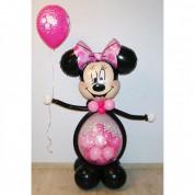 Маус-девочка с шаром-сюрпризом + шарик
