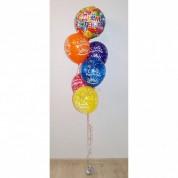Фонтан из 6 шаров на день рождения