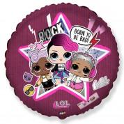 Куклы LOL Рок-звезда  круг 40 см