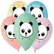 Панда мордочка, ассорти пастель