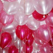 Металлик - белый, розовый, фуксия
