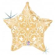 Звезда Филигрань Золото 40 см