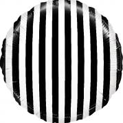 Круг, черно-белые полоски 40 см