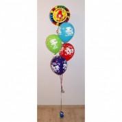 Фонтан из 5 шаров на день рождения