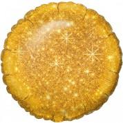 Круг Блестящий Золото 40 см