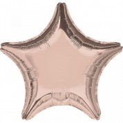 Звезда Розовое золото 40 см