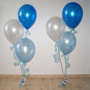 Фонтан настольный синий-голубой