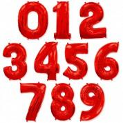 Цифра Красная 86 см (гелий)