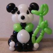 Медвежонок панда с бамбуком - 45 см