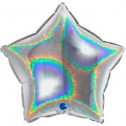 Звезда Серебро Голография 40 см
