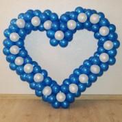 Сердце каркасное синее 140 см