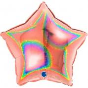 Звезда Розовое золото Голография 40 см