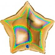 Звезда Золото Голография 40 см