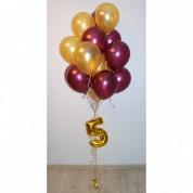 Фонтан из 15 шаров с цифрой