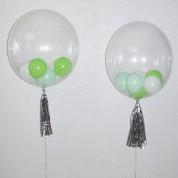 Сфера 43 см с шариками и кисточкой