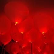 1 шт. Светящиеся Сердца (гелий)