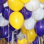 Пастель - фиолетовый, темно-желтый, белый