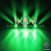 3D Зеленый светодиод в защитном корпусе