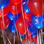 Синие + Красные светящиеся шары