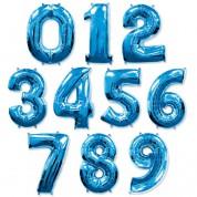 Цифра синияя 100 см (гелий)