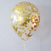 1 шт. Золотой конфетти (полисилк)