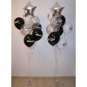 Фонтан из 11 брендированных шаров
