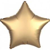 Звезда Золото Сатин Люкс 40 см
