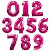 Цифра розовая 100 см (гелий)