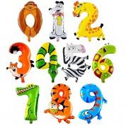 Цифры 1-9 100 см. детские (гелий)