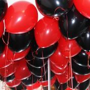 Пастель - черный, красный